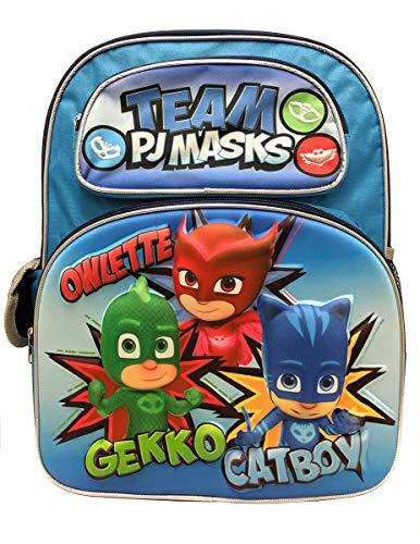 """TEAM PJ MASKS 3D 16"""" Large Backpack"""