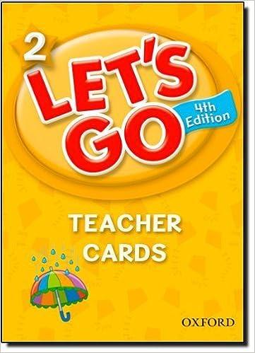 Book Let's Go 2 Teacher Cards: Language Level: Beginning to High Intermediate. Interest Level: Grades K-6. Approx. Reading Level: K-4 Crds Tch edition by Nakata, Ritzuko, Frazier, Karen, Hoskins, Barbara (2011)