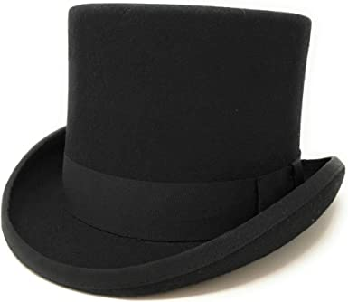 Chapeau en Feutre avec Ruban Noir en Satin