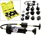 New MTN-G 18pc Radiator Leak Pressure Tester Detector Checker Pump Kit Tool Car Truck Auto