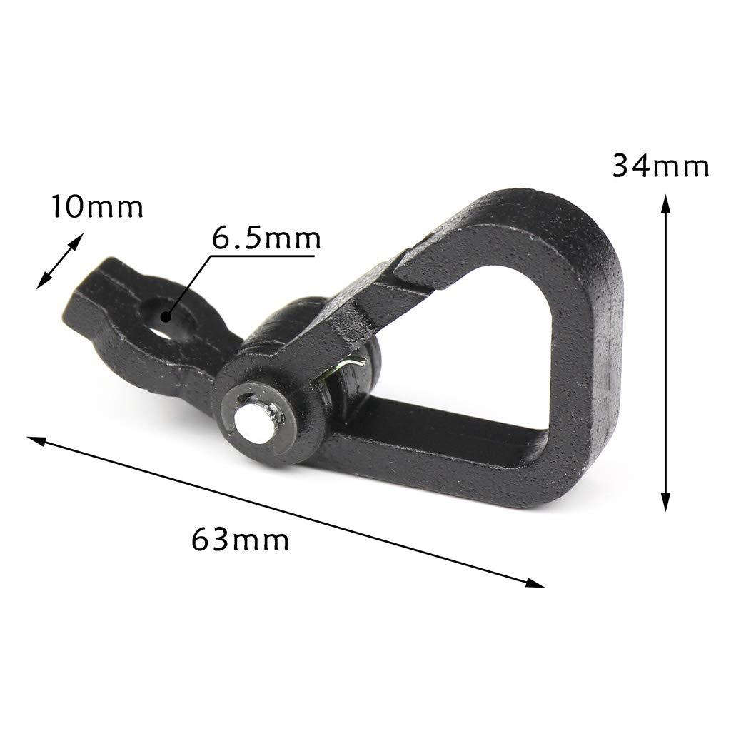 Sharplace Clip de Resorte Gancho R/ápido Equipaje Casco Suspensi/ón Negro Aleaci/ón de Aluminio de Motocicleta