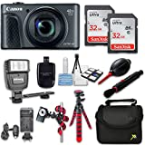 Canon Powershot SX730 (Black) HS Point and Shoot Digital Camera, W/ Case + 64GB Memory + Flash + Tripod + Case + Cleaning Kit + More – International Model