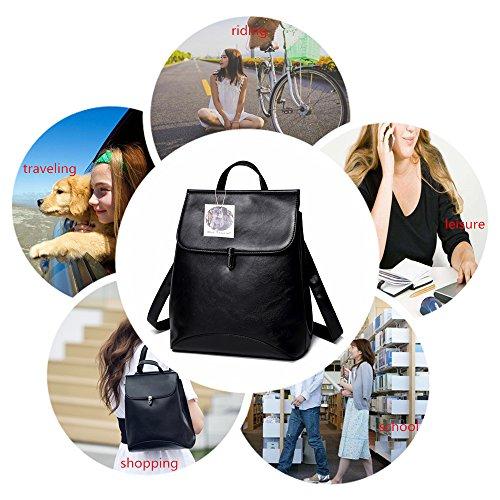 Amazon.com  WINK KANGAROO Fashion Shoulder Bag Rucksack PU Leather Women  Girls Ladies Backpack Travel bag (black 2)  Shoes 30aa8ce1b5d33