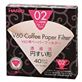 Hario Coffee Paper Filters (Size 02, 40 Sheets, Natural)