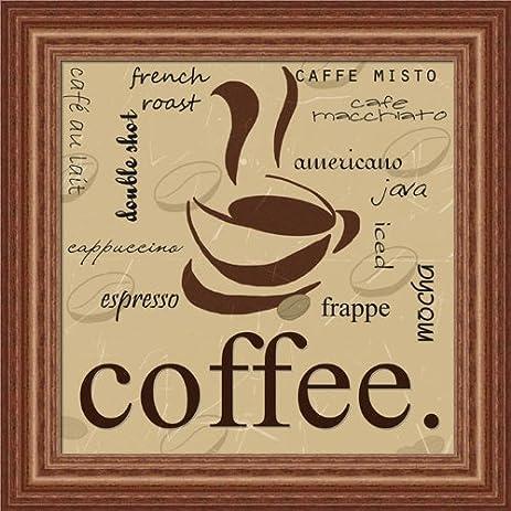 Amazon.com: Coffee by Anna Quach French Roast Sign 15x15 in Wall Art ...