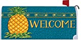 Pineapple Welcome - Mailbox Makeover - Vinyl with Magnetic Strips - Licensed, Copyrighted and Made in the USA by Custom Decor Inc.