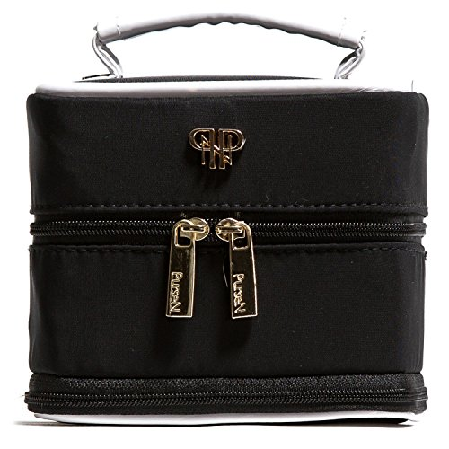 PurseN Signature Collection Weekender Jewelry Case (Small, Blanc Noir)