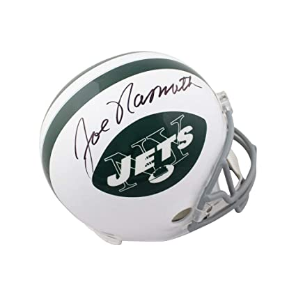Image Unavailable. Image not available for. Color  Joe Namath Autographed  New York Jets Throwback Full-Size Football Helmet JSA COA a17ac15d0