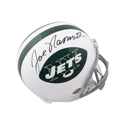 the best attitude cac6a 77bc0 Amazon.com: Joe Namath Autographed New York Jets Throwback ...
