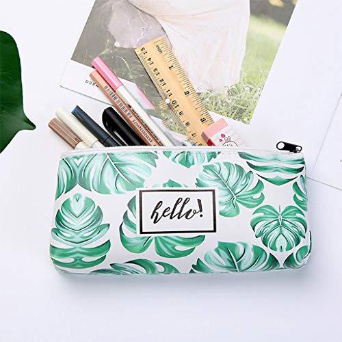 Gotian Creative Turtle Leaf Pencil Bag Large Capacity Simple Cute Pen Storage Bags Durable Fresh and Waterproof Cosmetic Bag Pencil Case-19.5x3.5x8.5cm (A)]()