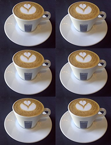 6 X Cappuccino Cups And Saucers 5.5 Oz ()