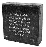 Granite Block, for God so Loved the World,…. John 3:16