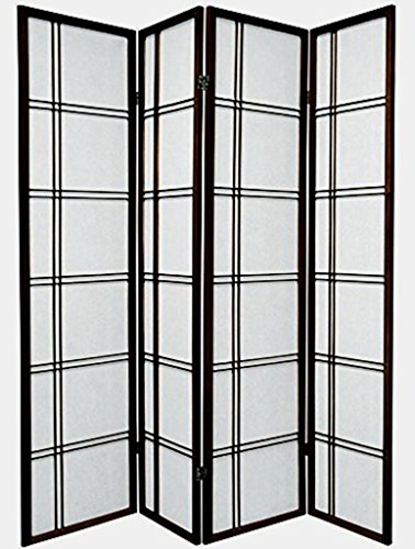 4 Panel Cherry Room Divider - 7