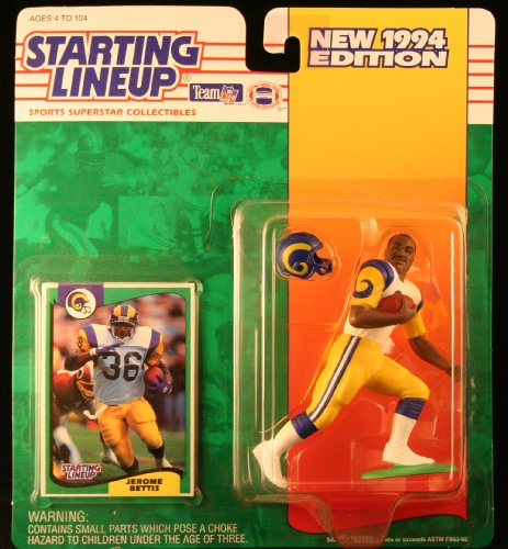JEROME BETTIS / LOS ANGELES RAMS 1994 NFL Starting Lineup Action Figure & Exclusive NFL Collector Trading Card by Starting Lineup
