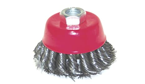 """4/"""" Twist Cup Wire Wheel Brush 5//8/"""" Arbor Wire Fits Most Angle grinders Cleaner"""