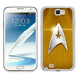 Star Trek Logo White Abstract Custom Design Samsung Galaxy Note 2 7100 Protective Phone Case