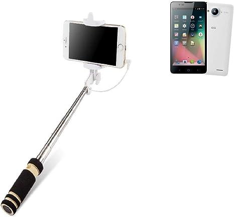 K-S-Trade Selfie Stick Palillo para ZTE Blade L3 Plus, Negro, Monopod, Mástil Telescópico, Autorretrato: Amazon.es: Electrónica