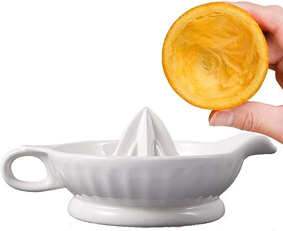 Compra TAMUME Porcelana Blanca Exprimidor de Limón y Prensa de Cítricos Cocina Exprimidor de Alimentos Manual en ...