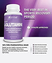 SeroLG L-Glutamine Powder-300 Grams-Amino Acids-60 servings -Unflavored
