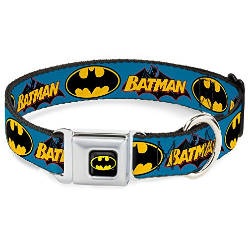 Buckle-Down DC-WBM013-S BMC Batman Black/Yellow Dog Collar, Small/9-15