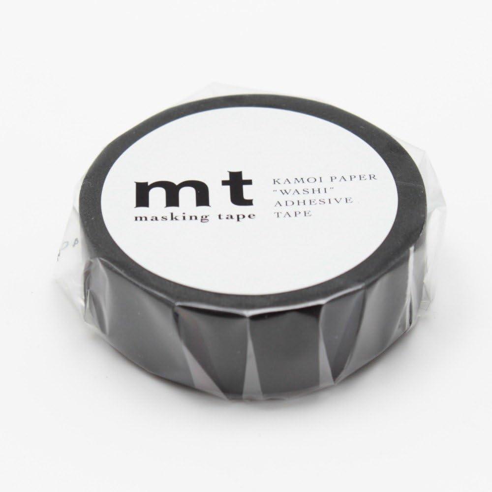 mt Washi Masking Tape Roll Matte Black