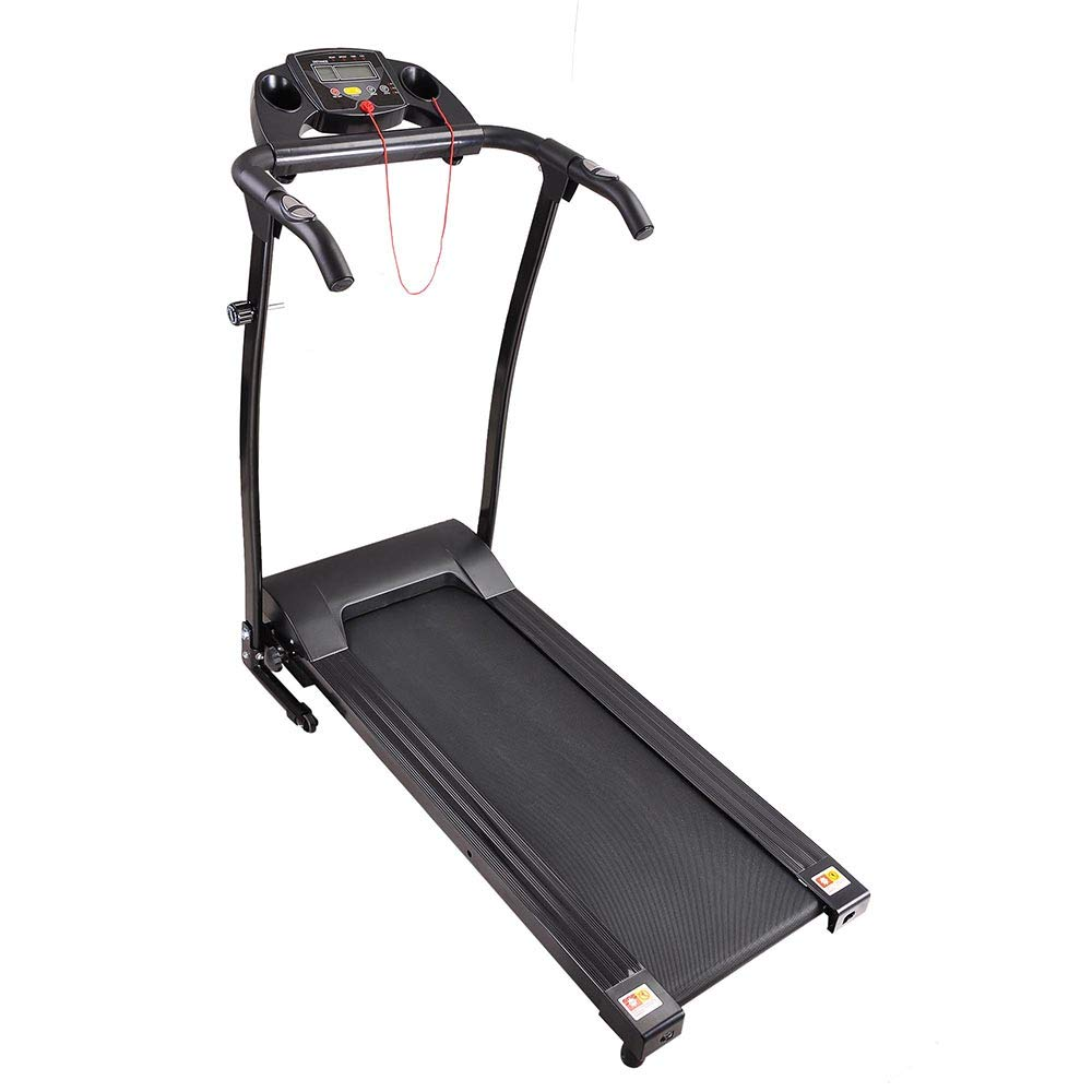 AW 1100W Folding Electric Treadmill Portable Power Motorized Machine Running Jogging Gym Exercise Fitness Black by AW (Image #5)