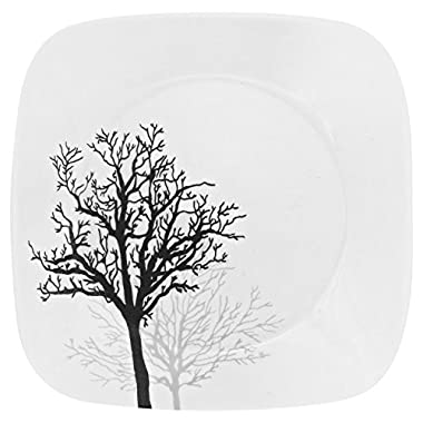 Corelle Square Timber Shadows 8.75  Lunch Plate (Set of 4)