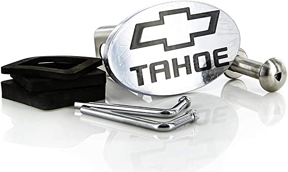 Chevy Tahoe 2012-2016 Bowtie Chrome Plated Metal Trailer Hitch Cover Plug 2 inch Post