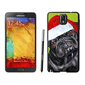 Custom-ized Christmas Black Dog With Red Hat Samsung Galaxy Note 3,Samsung N9005 Black TPU Cover Case