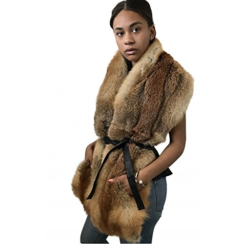 Scarf collar made of real fox fur