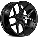 20 Inch Rims - Black Wheels - STAGGERED - Set of 4 Rims - Made for MAX Performance - Fits ALL Cars - Racing Wheels for Challe