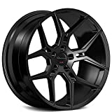 "20 camaro wheels - 20 Inch Rims - Black Wheels - STAGGERED - Set of 4 Rims - Made for MAX Performance - Fits ALL Cars - Racing Wheels for Challenger, Mustang, Camaro, BMW, and More! (20x9"" x 20x10.5"") - Giovanna Haleb"