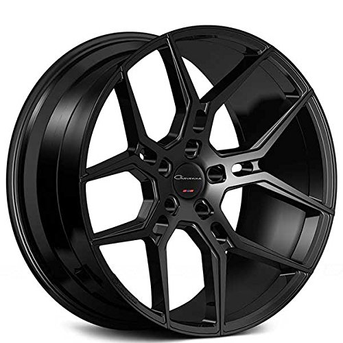 (20 Inch Rims - Black Wheels - STAGGERED - Set of 4 Rims - Made for MAX Performance - Fits ALL Cars - Racing Wheels for Challenger, Mustang, Camaro, BMW, and More! (20x9