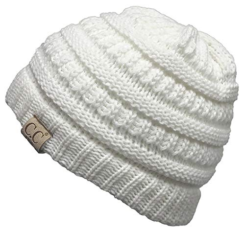 H-3847-25 Funky Junque Kids Beanie (NO POM) - Ivory for sale  Delivered anywhere in USA