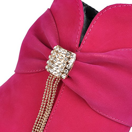 AdeeSu Womens Fashion Dress Slip-Resistant Comfort Platform Suede Boots SXC01719 Red c82JGgbe