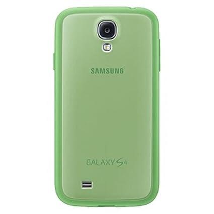 Samsung Protective Cover Plus - Funda para móvil Galaxy S4 (Revestimiento de goma), verde- Versión Extranjera