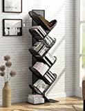 Tribesigns 8-Shelf Tree-Shaped Bookshelf, Metal Bookcase Display Shelves Storage Rack for CD, Books, Home Office