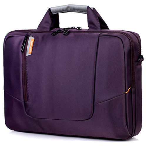 BRINCH Nylon Waterproof Laptop Case with Side Pockets for Macbook Pro Retina 15 inch Mini Asus/DELL/HP/Samsung ,15.6-Inch, Purple by BRINCH (Image #7)'