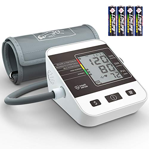 Blood Pressure Monitor with Large Cuff,ZIIDII Digital Upper Arm Automatic Measure Blood Pressure and Heart Rate Pulse, 2 Sets of User Memories-Battery Included