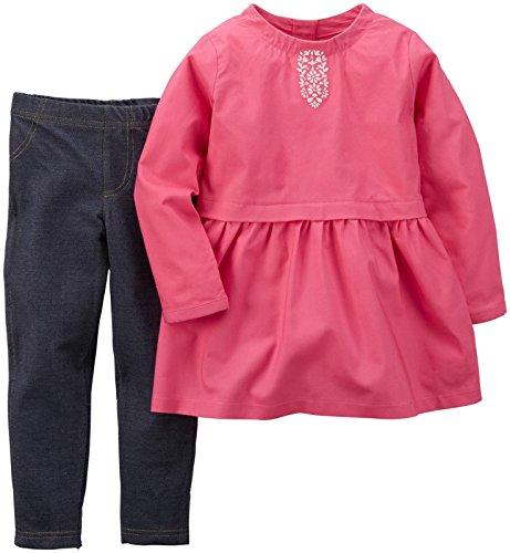 Carters 2 Piece Outfit (Carter's 2 Piece Peplum Top Set, Pink, 24)