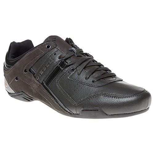Diesel Korbin Ii Herren schwarz Leder Sneakers Schn rschuhe
