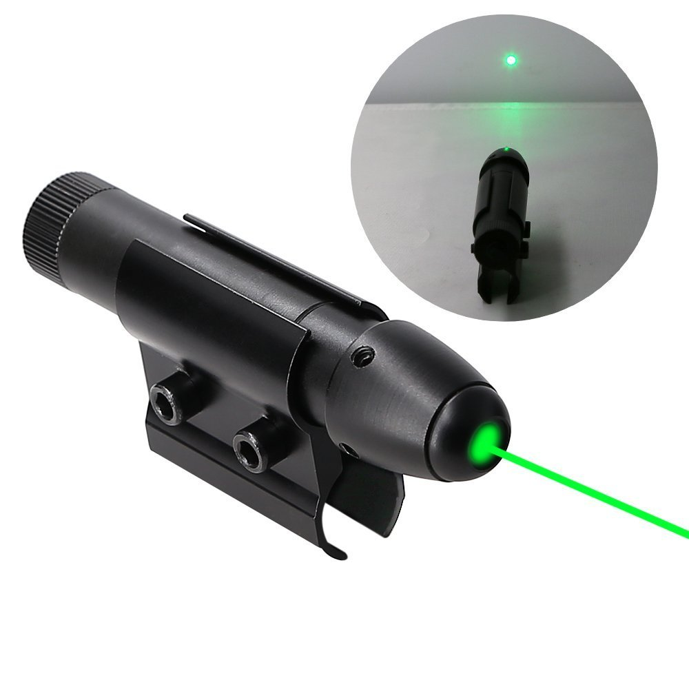 Higooo(tm) Powerful Green Laser Dot Sight, Military Tactical Hungting Green Laser Scope, Green Laser Pointer Presenter Pen Aiming Sight 11822228
