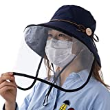 Comhats Summer Bucket Hat for Women Face Shield Sun Protection UV Hunting Safety Fashion Medium Navy Blue