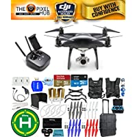DJI Phantom 4 Pro Black Obsidian Edition Drone PRO BUNDLE With Rolling Case, Vest Strap, Extra Props, Filter Kit Plus Much More (1 Battery)