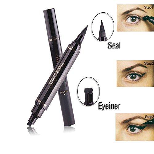 Eyeliner Stamp Liquid Eye liner Pen , Waterproof, Smudgeproof, Long Lasting, Easy to Makeup Eyeliner and Cat Eyes, Vamp style Wing Eye - Cat Eye Wing