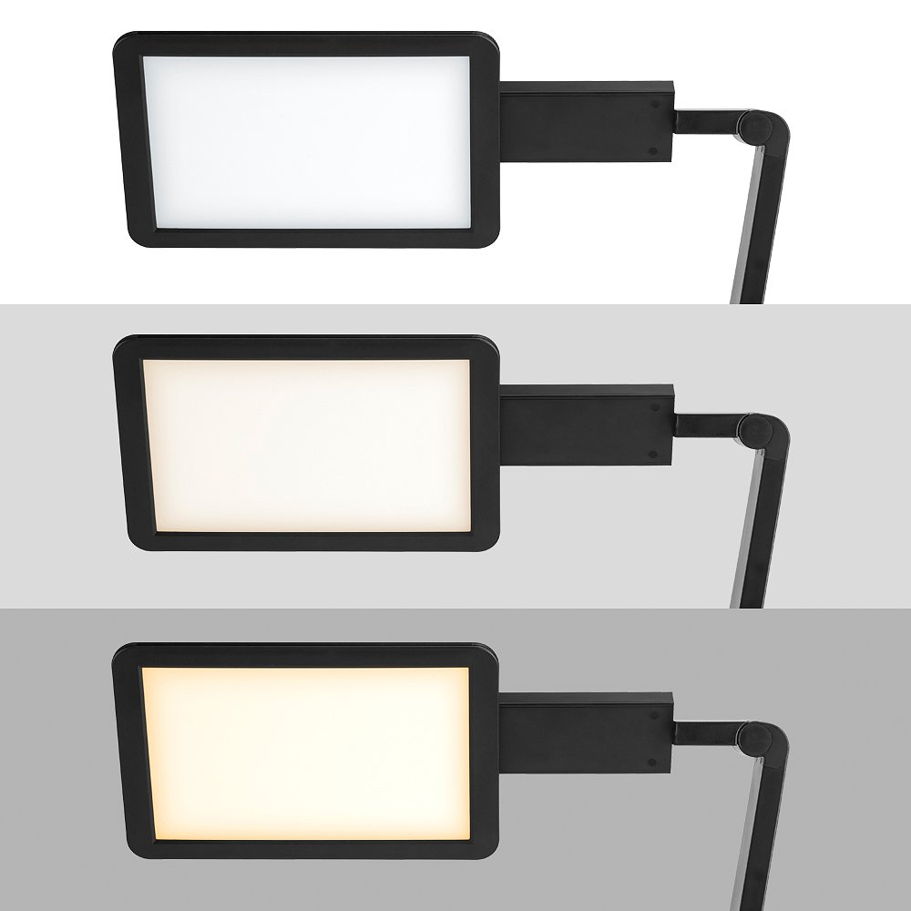 LED Desktop Lamp Saicoo Desk lamp with Large LED Panel, Seamless Dimming-Control of Brightness and Color Temperature, an USB Charging Port by saicoo (Image #4)