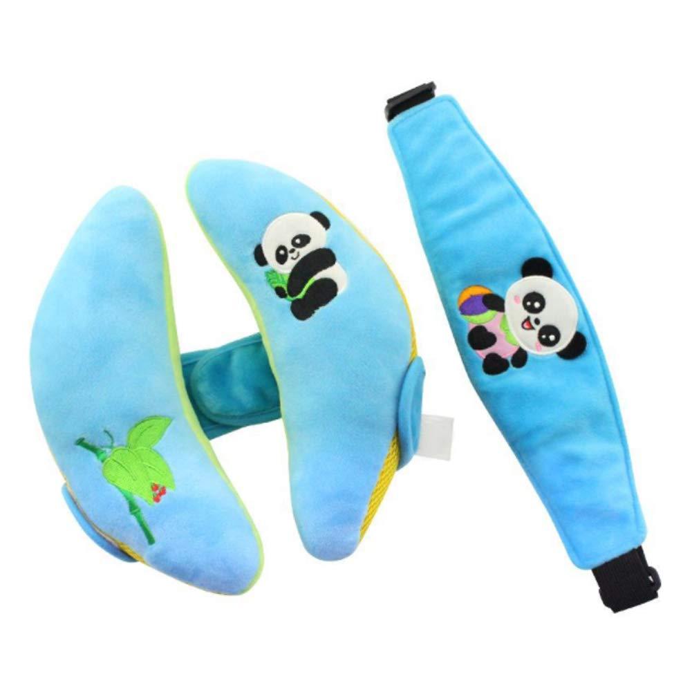 Newin Satr Cojines de cabeza con Cinturón de seguridad, Almohada de soporte de cabeza para cochecito de bebé, cinturón de seguridad para niños y bebés (Azul) Newin Star