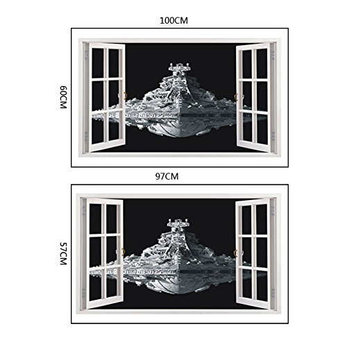 Fangeplus Tm Diy Removable 3d Window View Star War