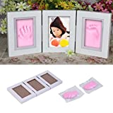 Asdomo Photo Frame Baby Footprint, Baby Keepsake Frames,Baby Handprint Kit for Newborn Girls and Boys Room Wall Nursery Decor