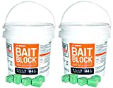 JT Eaton 709-PN Bait Block Rodenticide Anticoagulant Bait, Peanut Butter Flavor, For Mice and Rats (Pail of 144) (2 Pails of 144)